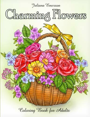 Charming Flowers Coloring Book for Adults