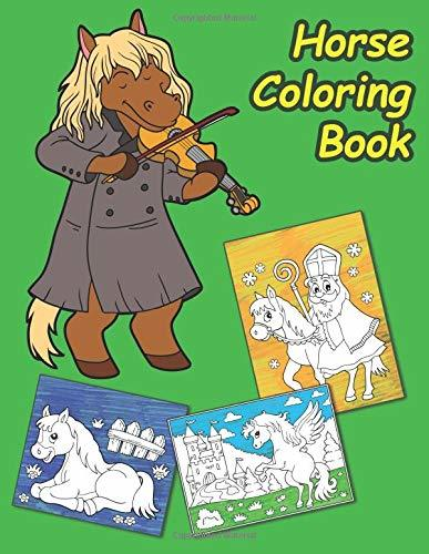 Horse Coloring Book: Over 30 Exclusive Images Inside This Amazing Coloring Book for Kids, Spirit Riding Free Coloring Book