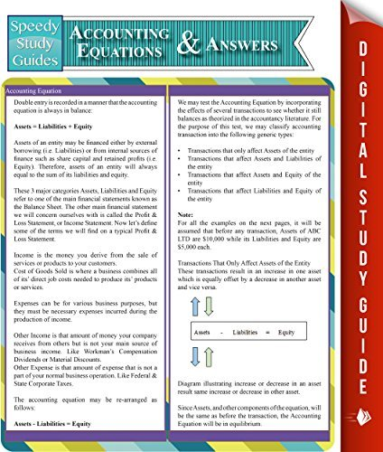 Accounting Equations And Answers (Speedy Study Guides)