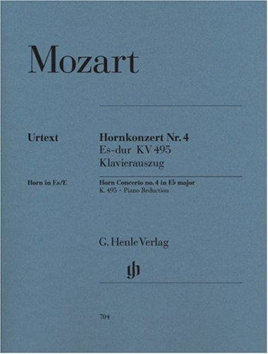 Concerto for Horn and Orchestra no. 4 Eb major KV 495 - horn and orchestra - piano reduction with solo part - (HN 704)
