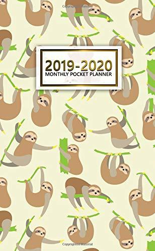 2019-2020 Monthly Pocket Planner: Two-Year Sloth Pocket Planner with Phone Book, Password Log and Notebook. Nifty 24 Month Agenda, Calendar and Organizer.