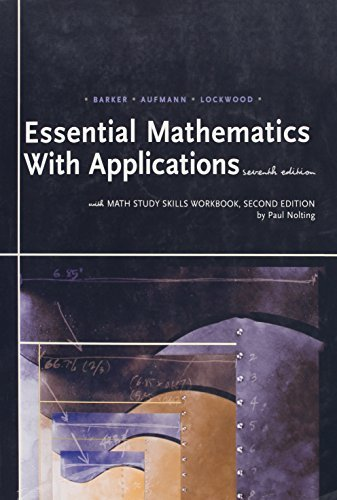 Essential Mathematics with Applications: With Math Study Skills Workbook