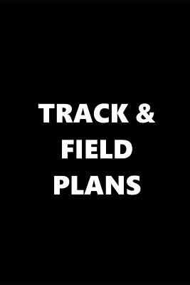 2019 daily planner sports theme track field plans black white 384
