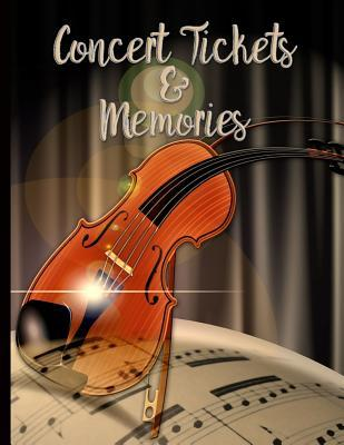 Violin and Sheet Music - Concert Ticket and Memories: Custom Notebook
