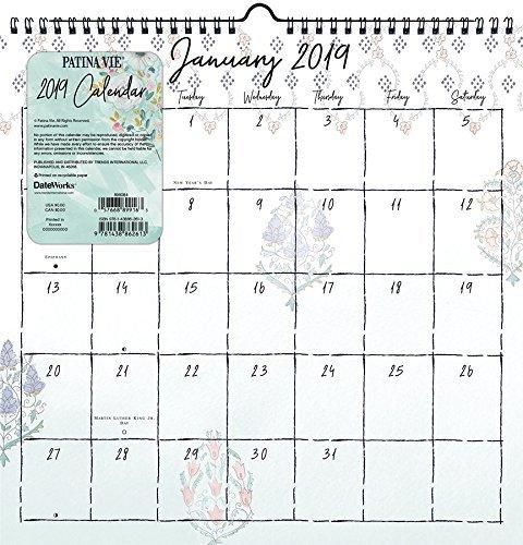 2019 Patina Vie Spiral Wall Calendar