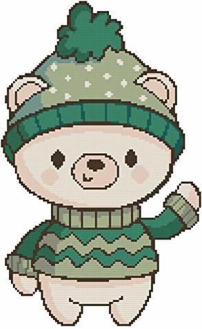 Cross Stitch Patterns: Christmas Boy 1/ cross stitch patterns download/ Needlecrafts Counted Cross