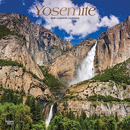 Yosemite 2019 12 x 12 Inch Monthly Square Wall Calendar with Foil Stamped Cover, USA United States of America National Park West Scenic Nature