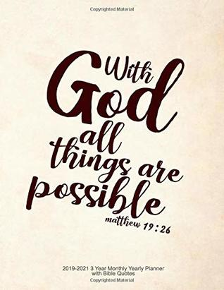With God All Things Are Possible Matthew 1926 2019 2021 3 Year