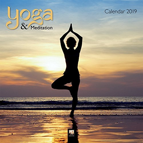 Yoga & Meditation 2019 12 x 12 Inch Monthly Square Wall Calendar by Flame Tree, Inspiration Meditation Namaste