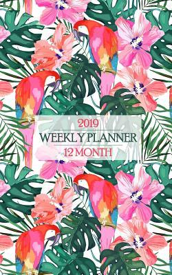 2019 Weekly Planner: Fantastic Floral Flamingo Hawaiian Shirt Print Calendar Brings the Island Life to Your Office Every Day!