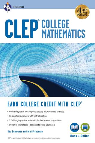 CLEP® College Mathematics, 4th Ed., Book + Online