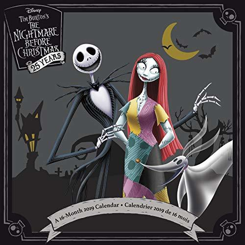 2019 Nightmare Before Christmas 25th Wall Calendar