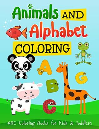 Coloring Books Animals And Alphabet Easy Drawing For Kids And