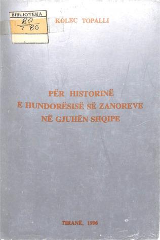 Për historinë e hundorësisë së zanoreve në gjuhën shqipe