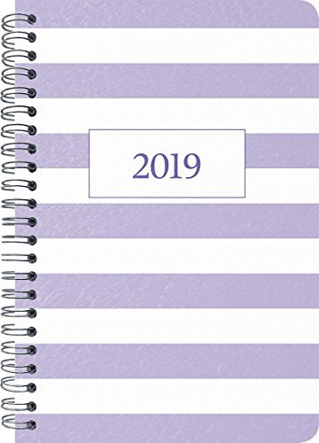 2019 Pastel Purple Weekly/Monthly Planner - 5 x 8
