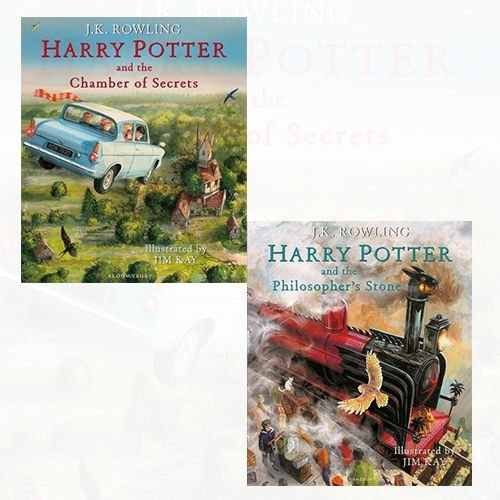 J.K. Rowling Harry Potter Illustrated Edtn Collection 2 Books Bundles