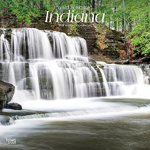 Indiana, Wild & Scenic 2019 12 x 12 Inch Monthly Square Wall Calendar, USA United States of America Midwest State Nature