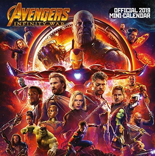 Marvel Avengers Infinity War Mini Official 2019 Calendar - Mini Wall Calendar Format