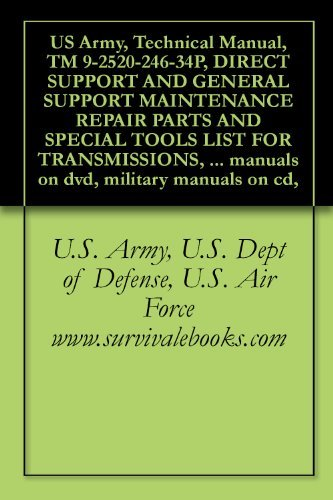 US Army, Technical Manual, TM 9-2520-246-34P, DIRECT SUPPORT AND GENERAL SUPPORT MAINTENANCE REPAIR PARTS AND SPECIAL TOOLS LIST FOR TRANSMISSIONS, (NSN ... manuals on dvd, military manuals on cd,