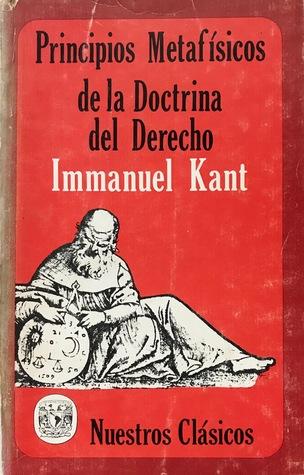 Principios metafísicos de la doctrina del derecho