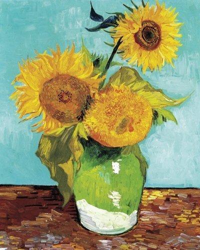 Three Sunflowers 8 x 10 Notebook: Vincent van Gogh Still Life Flower Journal Blank Lined Book (Great Works of Art Notebooks)