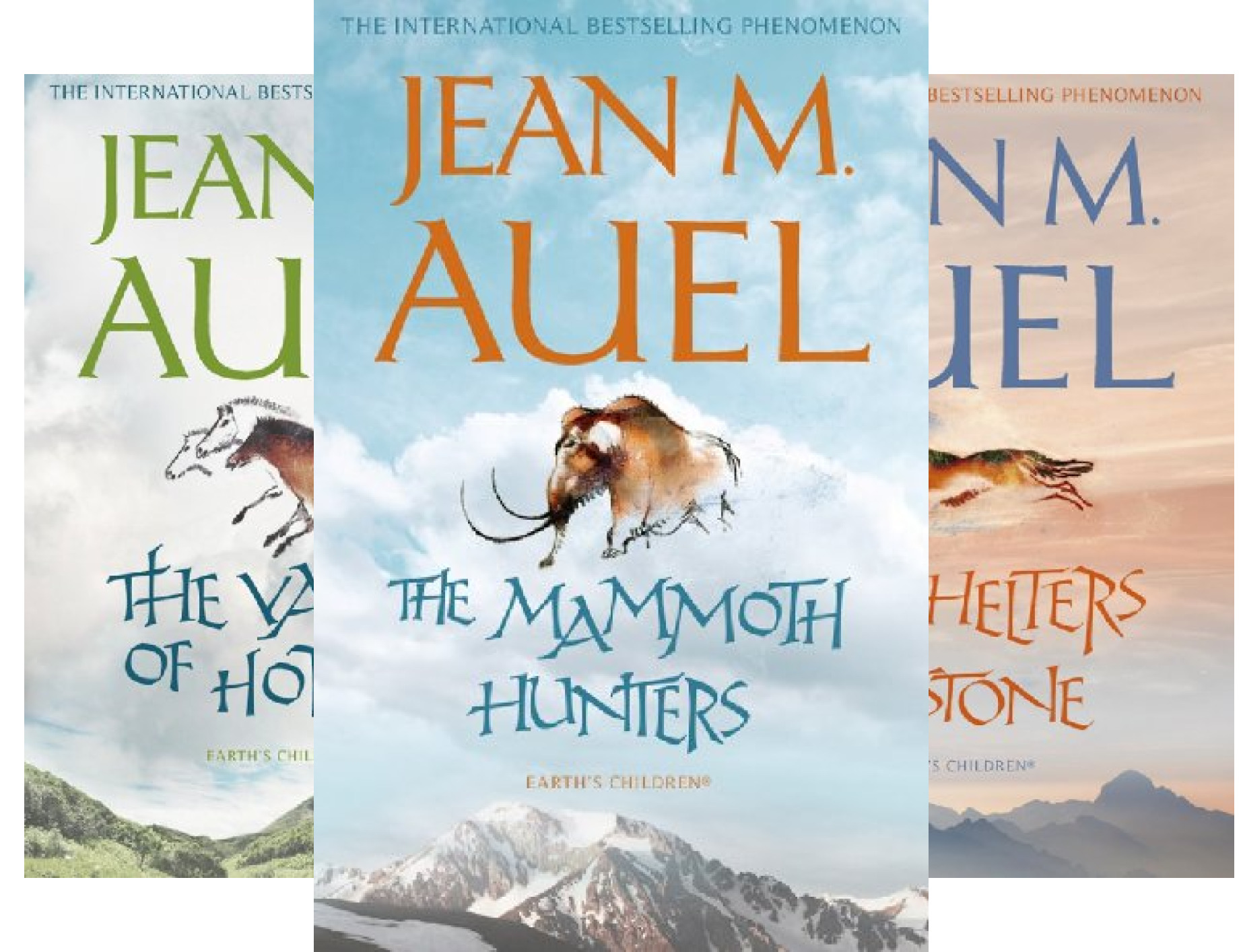 Jean Auel (The Mammoth Hunters / The Valley of Horses / The Shelters of Stone / Clan of the Cave Bear / Plains of Passage) (5 Book Series)