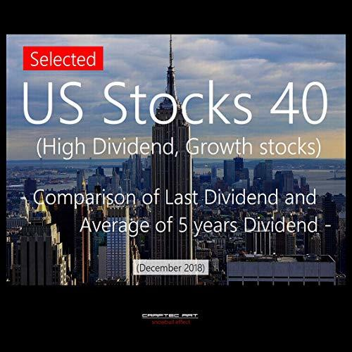 Selected US Stocks 40 (High Dividend, Growth stocks) - Comparison of Last Dividend and Average of 5 years Dividend - (Initial December 2018)