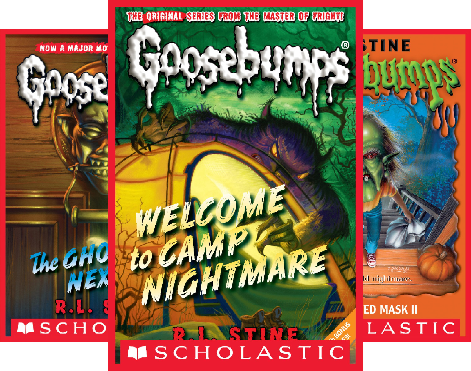Goosebumps Boxed Set, Books 9-12: Welcome to Camp Nightmare, The Ghost Next Door, The Haunted Mask, and Be Careful What You Wish For (4 Book Series)