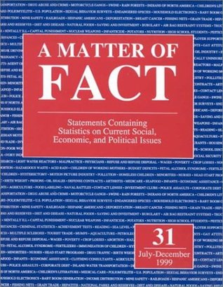 A Matter of Fact: Statements Containing Statistics on Current Social, Economic, and Political Issues, July-December 1999