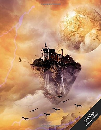 Fantasy Notebook Collection: Magical Sky Castle, Journal/Diary Gift Idea, Wide Ruled, 100 Pages, 8.5 x 11,