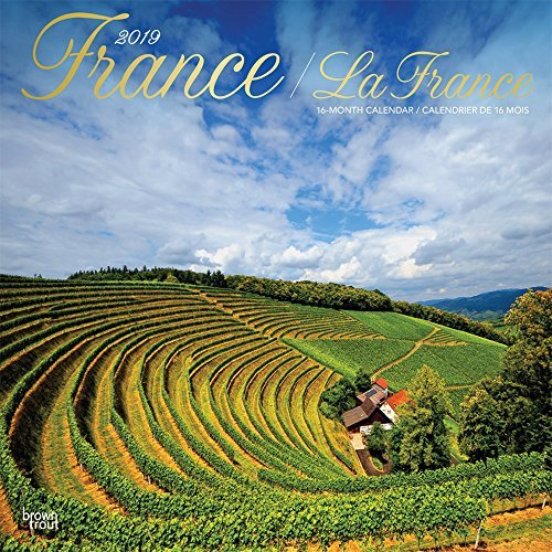 France La France 2019 12 x 12 Inch Monthly Square Wall Calendar with Foil Stamped Cover, Travel Europe France French