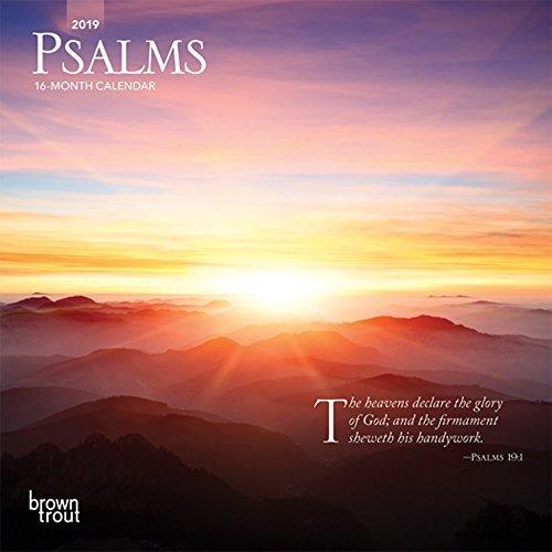 Psalms 2019 Mini Wall Calendar
