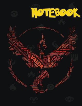 Notebook: Team Red Valor, Pokemon notebook, Large College Ruled Notebook, (8.5x11 inches ) 120 pages v.82