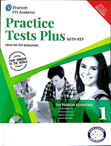Pearson Practice Test PTE ACADEMIC WITH KEY PAPERBACK BOOK REPRINT 2018 WITH ANSWER KEY AND AUDIO CD