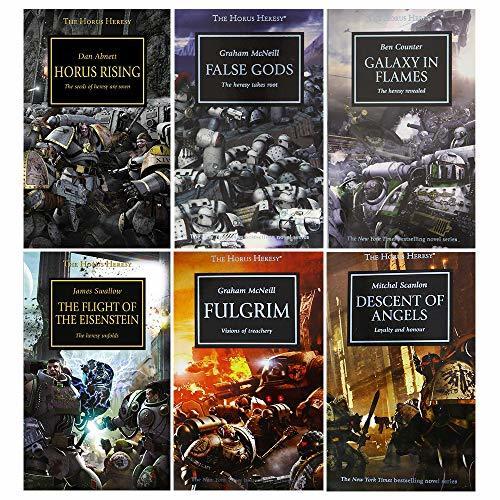 Horus heresy series 1-6 books collection set