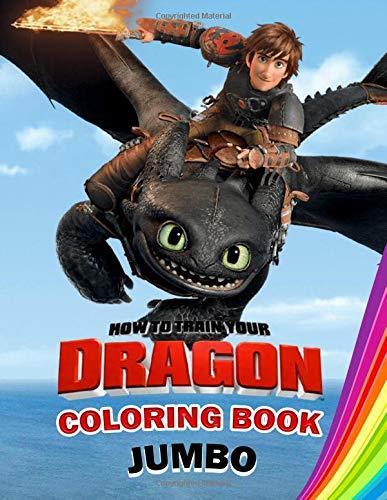 How to Train Your Dragon Jumbo Coloring Book: Great Coloring Book for Kids and Any Fan of How to Train Your Dragon (Perfect for Children Ages 4-12)