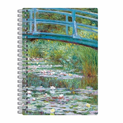 Monet Footbridge Wire-O Journal 6 X 8.5""
