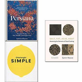 Ottolenghi SIMPLE, Persiana,Salt, Fat, Acid, Heat 3 Books Collection Set