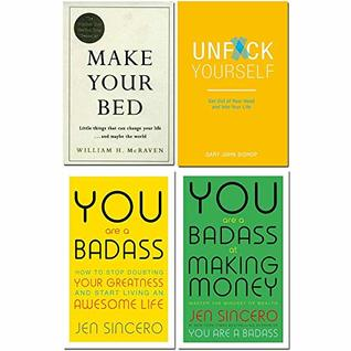 Make your bed [hardcover], unfck yourself, you are a badass, you are a badass at making money 4 books collection set