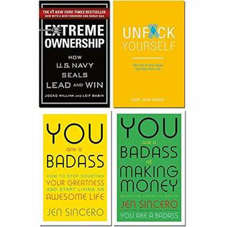Extreme ownership [hardcover], unfck yourself, you are a badass, you are a badass at making money 4 books collection set