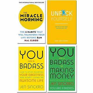 Miracle morning, unfck yourself, you are a badass, you are a badass at making money 4 books collection set