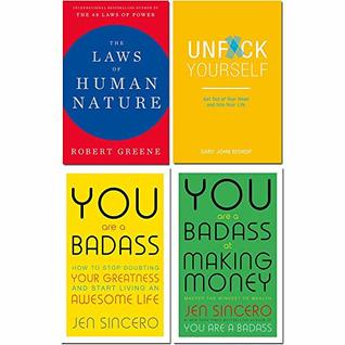 Laws of human nature [hardcover], unfck yourself, you are a badass, you are a badass at making money 4 books collection set
