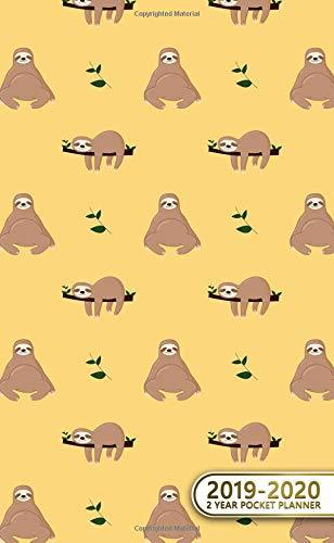 2019-2020 2 Year Pocket Planner: Two-Year Monthly Sloth Pocket Planner with Phone Book, Password Log and Notebook. Cute 24 Month Agenda, Diary, Calendar and Organizer.