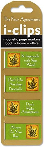 The Four Agreements i-Clips Magnetic Page Markers (Set of 4 Magnetic Bookmarks)