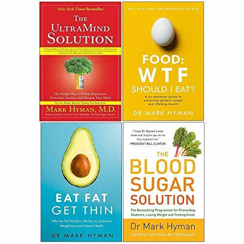 Ultramind solution, food wtf should i eat, eat fat get thin, blood sugar solution 4 books collection set