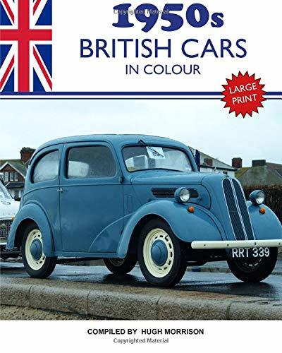 1950s British Cars in Colour: large print book for dementia patients