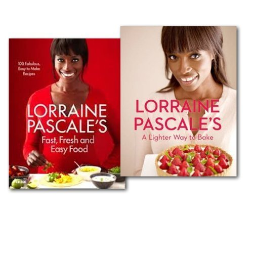 Lorraine Pascale's Fast, Fresh, Easy Food and A Lighter Way to Bake 2 Books Collection Set