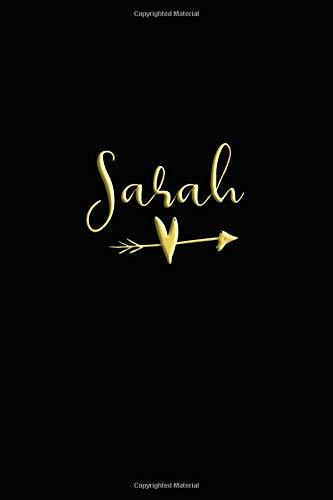 Sarah: Personalized With Name Notebook for Ladies (Personalized Books for Her - Black/Gold)