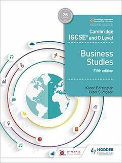 Cambridge IGCSE and O Level Business Studies 5th edition South Asia