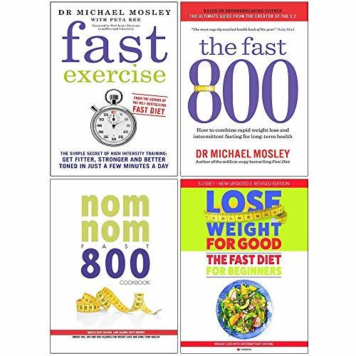 Fast exercise, fast 800, nom nom fast 800 cookbook, fast diet for beginners 4 books collection set